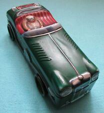 FAB MARKS & SPENCER NOVELTY VINTAGE MG RACING CAR SHAPED STORAGE TIN BOX