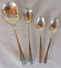 ensemble cuillère à glace + 3 autres métal argenté anglais spoon Oneida EPNS