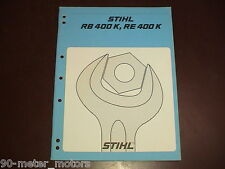 STIHL Pressure Washer Cleaner Service Repair Instruction Manual RE RB 400 K 400K