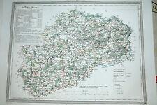 70 Haute Saône carte gravure de 1860 Dufour & Duvotenay (75-7)