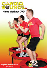 CARDIO BOUNCE HOME WORKOUT DVD NEW SEALED REBOUNDING TRAMPOLINE 2 WORKOUTS