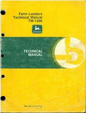 John Deere Farm cargadoras Manual técnico de junio de 1990 * Original * - Jd1