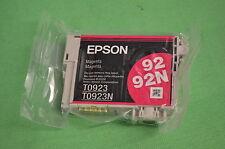 EPSON STYLUS MAGENTA INCHIOSTRO t0923 t0923n 92 92N vuoto imballati-NO BOX