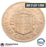 HALF CROWN: 1953 TO 1967 QEII / ELIZABETH BRITISH -  CHOICE OF YEAR/DATE