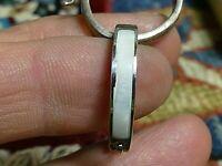 Vintage Sterling Silver Mother Of Pearl Inlay Hoop Earrings