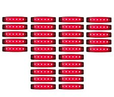30 x 6 LED 24 V Begrenzungsleuchten Positionsleuchte Rot LKW Umrissleuchte