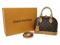 LOUIS VUITTON Alma BB Monogram Canvas 2Way Handbag Hand Bag M53152 Used LV
