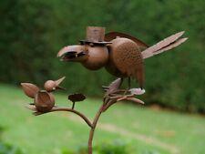 Gartenstecker Gartenstab Beetstecker Pflanzenstecker Gartendeko Vogel Rabe  295