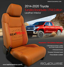 Roadwire Leather Seat Covers 14-20 Tundra CrewMax Double Cab 1794 Edition Amber