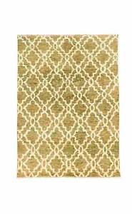 8 X 10 GOLD CAMEL HANDKNOTTED RUG IN WOOL,VISCOSE  INDIAN ORIENTAL CARPET