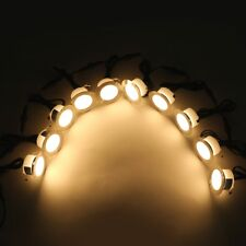 10Pcs Warm White 61mm 1.5W 12V Outdoor Yard Patio Pathway LED Deck Stair Lights