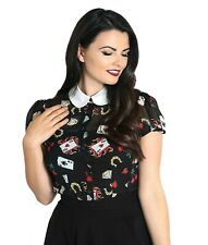 Hell Bunny Viva Las Vegas Top Blouse Rockabilly Swing retro Vintage