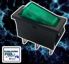 Green LED 3 Pin Rocker Switch On-Off 16A 125VAC / 16A 250VAC