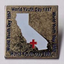 World Youth Day 1997 Pin California Los Angeles Paris France Catholic Church