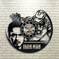 IRON MAN _Exclusive wall clock made of vinyl record_GIFT