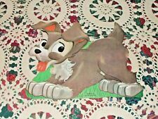 Vtg Dennison Disney Scamp Left Cardboard Decoration Diecut Nos Mint Lady & Tramp