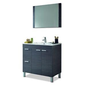 Mueble de baño, módulo de lavabo con espejo, Aktiva