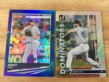 2020 Donruss Baseball Gerrit Cole NY Yankees Dominators/Blue Foil