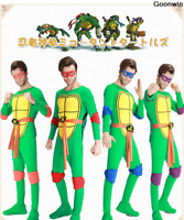 Adult Men Teenage Mutant Ninja Turtle Halloween Fancy Dress Cosplay Costume