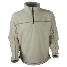 True Grit Mens/Unisex Bonded Polar 1/4 Zip Jacket Ivory Size Medium NWT