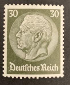 1933 Germany 30pf olive green Hindenburg definitive Stamp MLH