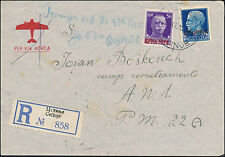 1942 Cetinje Yugoslavia Cover to Reporto ANI Albania Concentration Camp KZ