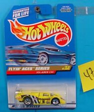 C47 HOT WHEELS FLYIN' ACES SERIES SOL-AIRE CX4 #739 YELLOW/GRAPHICS NEW ON CARD