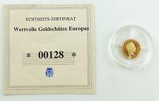 #e7271 Münze Wertvolle Goldschätze Europas 585 Gold *00128* Christian IX.