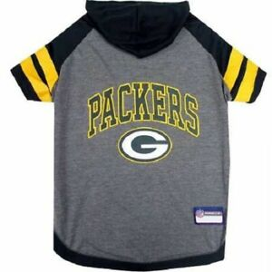 Pet's First Green Bay Packers NFL Official Licensed Football Pet Dog Hoodie Tee