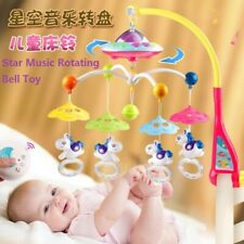 Baby Musical Crib Mobile Bed Bell Rattle Hanging Rotating Bracket Projection Toy