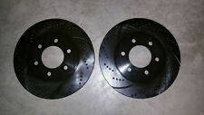 54099DS (FRONT 2pcs) Sport Dimpled Slotted Brake Disc Rotor