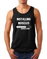 Men's Tank Top Installing Muscles Funny T Shirt Workout Gym T-Shirt Fitness Tee