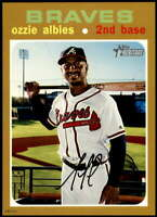 Ozzie Albies 2020 Topps Heritage 5x7 Gold #286 /10 Braves