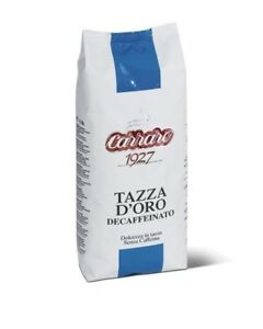 Carraro Tazza D'Oro Decaffeinated premium Coffee Beans 500gr -Tracked service