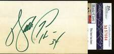 Walter Payton Signed Jsa 3x5 Index Card Authentic Autograph