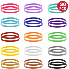 15 Colors Puppy ID Collars Double-Sided Soft Adjustable ID Bands Newborn Dog Cat