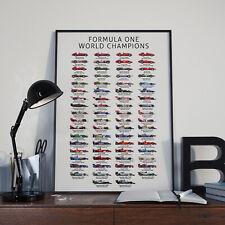 Formula 1 F1 World Champions history poster - Formula One (1950-Present)