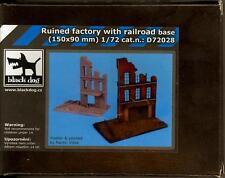 Blackdog Models 1/72 RUINED FACTORY WITH RAILROAD Resin Diorama Base