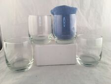 United Airlines Vintage Cocktail Tumblers Juice Glasses New Old Stock Lot of 4