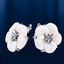 Russische Ohrringe aus Silber mit Perlmutt SO105915