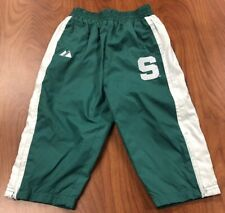 Vintage Michigan State Spartans Warmup Pants Size 18m by Majestic Stitched Logo
