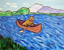 pit bull terrier dog art Print american artist canoe 8 x10 Jschmetz folk pop