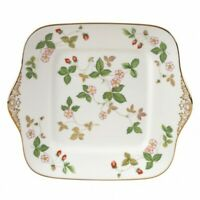 Wedgwood Wild Strawberry Square Cake Dessert Plate New with Tag # 10558001