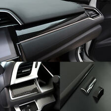 3PCS Carbon Fiber Center Dashboard Cover Trim Sticker For Honda Civic 2016 2017