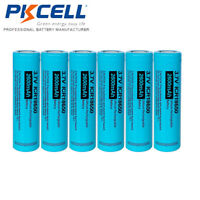 6 X 18650 3.7V 2600mAh Li-ion Rechargeable Battery Flat Top For Neck Fans PKCELL