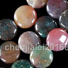 Hot Sale 12MM Multicolor Agate Onyx Coin Flat Round Beads Gemstone 15""