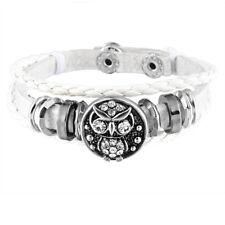 1 Weiß Armband Armbänder mit Click Klick Buttons Wechselschmuck 21cm  FL