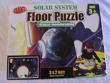 Giant SOLAR SYSTEM Floor Puzzle 3X2 Interactive Learning 48 Pc School Specialty