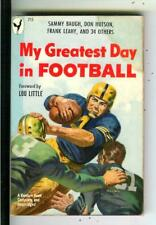 MY GREATEST DAY IN FOOTBALL, Bantam #715 games pulp vintage pb SAUNDERS art