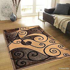 Rugs Area Rugs Carpets 8x10 Rug Modern Large Floor Living Room Beige Brown Rugs